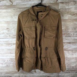LOVE TREE Tan Coat Utility Jacket Small